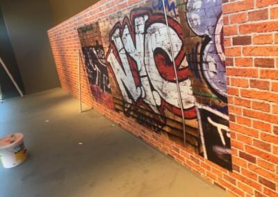 Graffiti - Tapete und Maler - Tapezier - sowie Bodenarbeiten im Modehaus Käferlein Eibacher Hauptstraße 15, 90451 Nürnberg