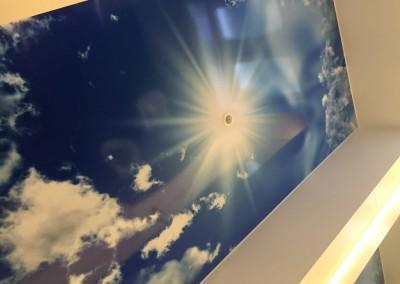 Wolkenhimmel - Motiv ausgewählt, dann auf Hartschaumplatte gedruckt und malergerecht montiert bei Sanitär Heinze GmbH Freiligrathstraße 30, 90482 Nürnberg