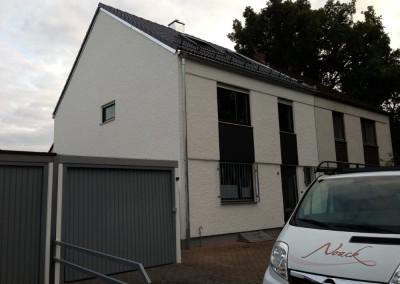 Malerarbeiten an der Fassade und Garage in der Gloxinienstraße, 90451 Nürnberg Eibach