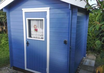 Gartenhaus mit Holzschutzfarbe fachgerecht gestrichen in Pottenstein 91278 Bayern